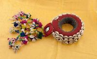 Anello Cerchio Di Portabambino Per Testa Donne Newari Nepal Ciprea E Perles 3765