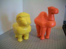 Vintage 1978 Fisher Price Bath Tub Animal Mix-Up #660 Camel & Lion GUC