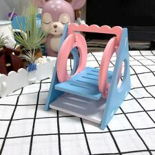 Hamster Hanging Wooden Swing For Squirrel Small Animal Pet Play Climb Toy HZ