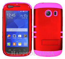 For Samsung Galaxy Ace Style S765c - KoolKase Hybrid Cover Case - Red (R)