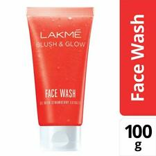 Lakme Blush and Glow Strawberry Gel Face Wash, 100g+ Free shipping