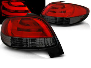 LED REAR TAIL LIGHTS LDPE21 PEUGEOT 206 1998 1999 2000 - 2017 RED SMOKE