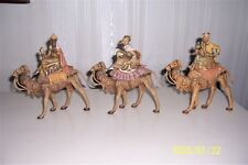 Vintage 1983 Italy Fontanini Nativity Christmas 3 Wisemen Kings Camels Figurines