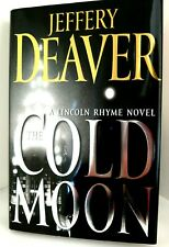 THE COLD MOON Jeffery Deaver AUTHOR-SIGNED L Rhyme Hardback w/Dust Jacket MINT