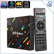 TV Box H96 MAX 4GB RAM WiFi Android 7.1 Quad-Core CPU KODI 18.0 Bluetooth 32GB