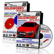 SOLIDWORKS 2014-2015 Beginner & Advanced Video Tutorial BUNDLE in HD