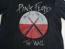 Pink Floyd Hammers The Wall Rock T-SHIRT M David Gilmour Roger Walters Black