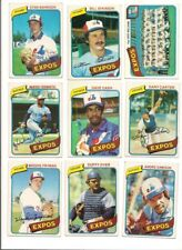 1980 Topps Montreal Expos Baseball Card Team Set (27 Different)