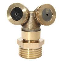 2 Hole Brass Spray Misting Nozzle Head Garden Sprinkler Irrigation Fitting Great