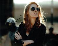 Jessica CHASTAIN SIGNED Autograph 10x8 Photo Zero Dark Thirty Actress AFTAL COA