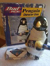 1996 AB Anheuser Busch Budweiser Bud Ice Penguin Character Stein CS315 w/box coa