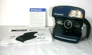Polaroid 600 OneStep Autofocus Navy Instant Film Camera w/Extras