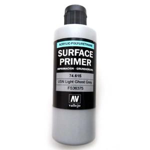 Vallejo 74615 Surface Primer Color USN Light Ghost Grey 200 ml Brand New