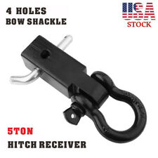 """Trailer Hitch Shackle Bracket 2"""" Receiver Tow Bar Set D-ring 4WD Towing 11000lb"""