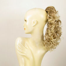 Hairpiece ponytail curly light blond wick very light blond 15.75 ref 3/15t613