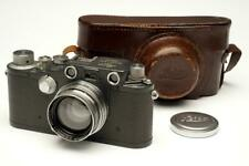 Leica IIIc  389946 K Gray with Summitar 5cm F/2 Lens and Case