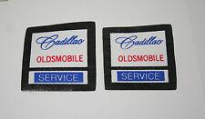 2 Vtg Cadillac Oldsmobile Service Automotive Car Thin Cloth Patch New NOS 1970s