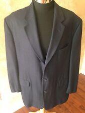Neiman MarcusLORO PIANA CASHMERE Dark Blue Blazer Suit Sport Jacket Size 46L