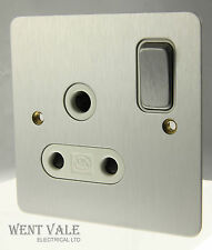 Mk k14383 SAA W Gamme Edge - 15a round pin switched socket unique plume