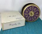 "Vintage Mrs. Stevens  Royalty  Candy/Cookie/Fruitcake Round 10"" Tin (1950s) BOX"
