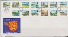 GB JERSEY 1989 Island Scenes Definitives/Views - 1p to 20p SG 468-480 FDC CASTLE