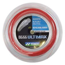 YONEX BG66 ULTIMAX 200M COIL BADMINTON STRING RED COLOUR