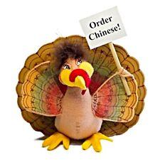 ANNALEE Felt Dolls 2012 Trepidatious FUN TURKEY Table Topper Order Chinese!