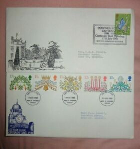 British First Day Covers x 2   Culford School Centenary 1980 1981