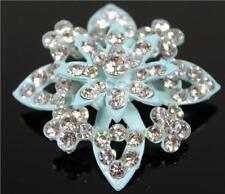 Spille di bigiotteria blu cristallo