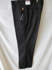 Adolfo Rayon size 40 X 32 Black Solid Flat  Front Dress Pants SR$64 NEW