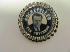 """VINTAGE UNUSUAL JOSEPH WARNER """"ROCKEFELLER FOR GOVERNOR"""" POLITICAL PIN"""