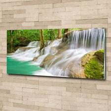Glas-Bild Wandbilder Druck auf Glas 125x50 Deko Landschaften Wasserfälle