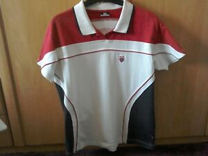 Ladies K Swiss Polo Tennis Shirt Size 14 good Condition
