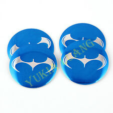 56.5mm Cool Batman Emblem Car Steering Wheel Center Hub Cap Badge Stickers 4Pcs