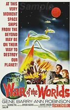 VINTAGE THE WAR OF THE WORLDS H.G. WELLS MOVIE POSTER A4 PRINT