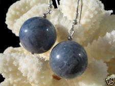 Ohrringe aus blauen Korallen in Kugelform 925er Silber