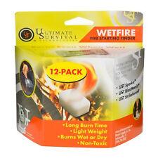 New! 12 Pack WETFIRE WET FIRE FIRE STARTER Starting TINDER Camping Survival Gear