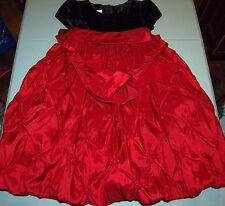 CINDERELLA GIRLS 3T FANCY DRESS BLACK BODICE MAROON SKIRT HOLIDAY OCCASION