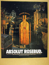 1996 Absolut Rosebud Citizen Kane sled vodka bottle shape photo vintage print Ad
