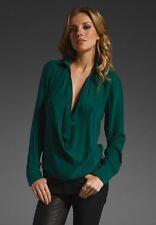Haute Hippie Cowl Neck Long Sleeve Silk Blouse Size S