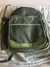 New listing 2 Person Picnic Backpack-Green w/Cutlery & Stem Glasses plus wine kozy