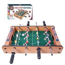 TABLETOP FOOTBALL FOOSBALL WOODEN TABLE SOCCER BOYS GAME PLAY ARCADE STYLE