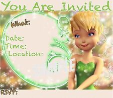Tinkerbell  Invitations with matching envelopes, boarder, birthday 12pack