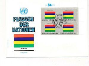 D112863 Flag Series Mauritius FDC United Nations New York Bureau