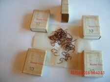 vintage mustad 9526a size 10 copperplated 5 boxes of 100 total 500 fly hooks