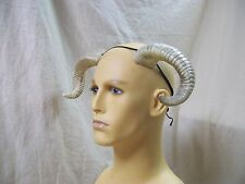 Aged Bone Twisted Ram Horns Pan Minotaur Goat Fantasy Mythical Big Horn Sheep