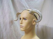 Aged Bone Twisted Ram Horns Pan Minotaur Goat Fantasy Mythical Big Horn Sheep