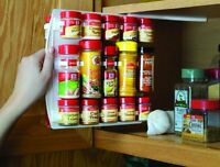Kitchen Spice Rack 40 Clip Seasoning Organizer Save Space Cabinet Easy Storage