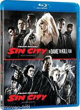 SIN CITY + SIN CITY: A DAME TO KILL FOR *NEW BLU-RAY*