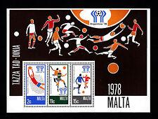 103613/ Malta 1978 - Bl. 5 - Fußballweltmeisterschaft - **
